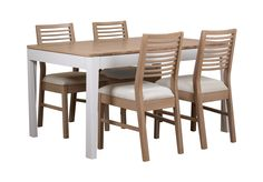 This gorgeous compact dining set is fresh, contemporary and perfect for kitchen, annexe or dining room. The small extending table has a white painted frame and oak with oak veneer tabletop. It can be extended to seat up to 8 people. The four wh...