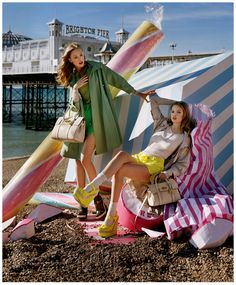 Mulberry Fashion House - Campaign Styling - love the candy props!