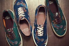 Vans California 2012 Fall/Winter 'Birds' Authentic CA Sneakers