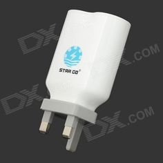 Brand: STAR GO; Model: ST-14; Quantity: 1 Piece; Color: White; Material: ABS; Power Plug: UK Plug; Compatible Models: Ipad 1 / 3 Iphone 4 / 4S / 5. i9100 HTC Blackberry; Input: 110~240V; Output Voltage: 5V; Output Current: 4100mA; Other Features: Advanced recharging technology accurately detects the state and stops fully charged to ensure no over charging; Red LED display with USB output; Packing List: 1 x Charger; http://j.mp/1ljEjJm
