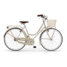 cream retro bike