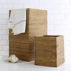 Modern Weave Storage Wastebin + Hamper From West Elm (no Longer Available)