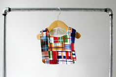 Baby/Toddler Bib Colorful Madras Plaid Cotton with by owesley