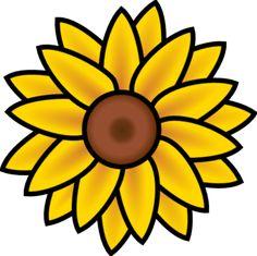 free printable sunflower stencils sunflower clip art vector clip rh pinterest com sunflower clipart transparent sunflower clip art free