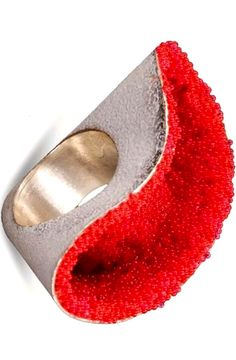ANNAMARIA ZANELLA-IT - Ring - Sterling silver, enamel and micro glass beads - LOVE LOVE LOVE this ring !!!!!!!!!!!!!!!!!!