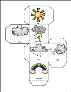 Weather Themed Math and Literacy Bundle This Bundle includes an emergent reader with a cut and paste version weather posters and writing activities a Graphing Activities, Weather Activities, Weather Crafts, Preschool Learning Activities, Writing Activities, Preschool Kindergarten, Teaching Resources, Portuguese Lessons, Learn Portuguese
