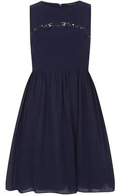 Womens navy prom dress from Dorothy Perkins - £55 at ClothingByColour.com