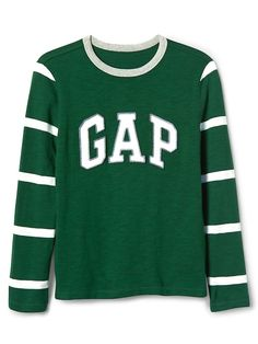 Gap Boys Athletic Logo Football Tee Festivus Green
