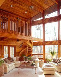 1000 images about homes on pinterest lindal cedar homes for Lindal log cabin homes