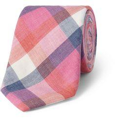 Alexander Olch Check Cotton Tie   MR PORTER