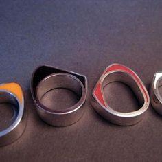 Jasmine Matus' resin rings