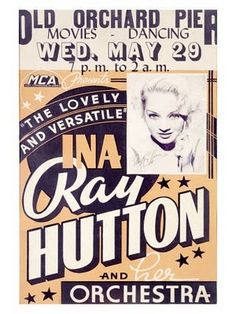 Ina Ray Hutton Poster