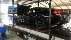 Cammed LS3 corvette on Mobile Dyno -- Cars and Coffee Austin -- 500RWHP