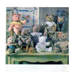Crafts Magazine Teddy Bears Stuffed Toy 18 by FindCraftyPatterns