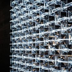 This modular system of decorative lighting for high end interiors resembles a glass labyrinth arranged into regularly repeating patterns. Vertical and horizontal lines allow an endless design combinations – from solitary elements to partitions to screens – that are suitable for walls, ceilings, columns or anywhere.