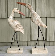 Need These hand Carved Shorebirds