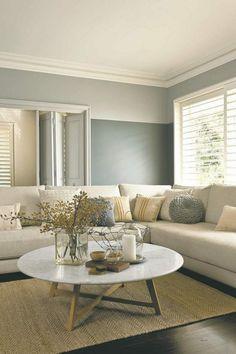 Hausdekorationen Und Modernen Möbeln : Kühles Wohnzimmer Wand Struktur  Zweifarbige Wandgestaltung Ideen Und Tipps Fr Stimmungsvolle