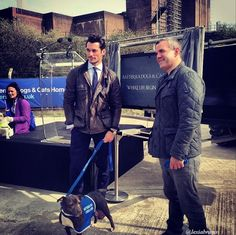 David Gandy Attends Launch of Updated Kennels at Battersea Dogs and Cats Home ~ David James Gandy