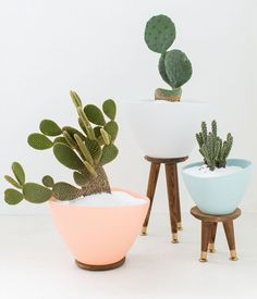 Make It: Easy DIY Mid-Century Inspired Planter IKEA Hack