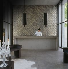 Polished concrete in the Habita MTY lobby. - Image - Hotel Management Network