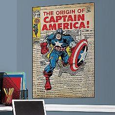 The Origin of Captain America Wall Graphic