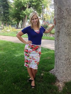 Style by Suzy. Floral skirt on the blog today!