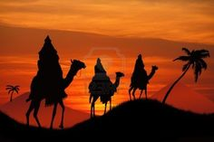 The Three Wise Men travel with gifts for Him.