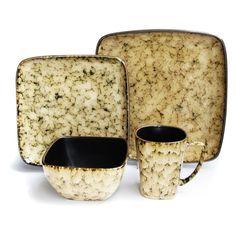 Have to have it. American Atelier Mojava Sand Square 16 Piece Dinnerware Set - $98 @hayneedle.com
