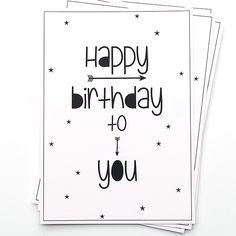 Ansichtkaart uit de webshop: Happy birthday to you.