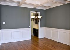 coffered ceiling and wainscotting [dining room]