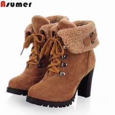 Now available on our store:check it out here! http://www.hdzstore.com/products/2016-new-fashion-thick-high-heels-warm-snow-boots-lace-up-fur-inside-free-shipping?utm_campaign=social_autopilot&utm_source=pin&utm_medium=pin  #shopping #hdzstore #shop #buy #shops