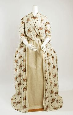 ca. 1795 cotton print gown