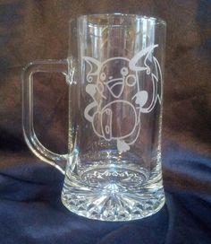 Custom Engraved Pokemon Glass Tankard by LeFayEngraving on Etsy, $45.00