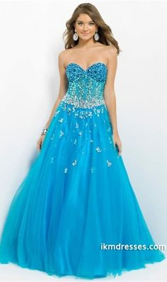 http://www.ikmdresses.com/2014-Sweetheart-Multi-Color-Rhinestone-Beaded-Bodice-With-Trumpet-Tulle-Skirt-p84774