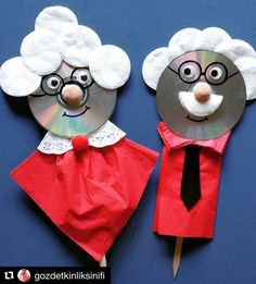 Grandparents day crafts for kids Grandparents Day Preschool, Grandparents Day Cards, Cd Crafts, Preschool Crafts, Diy And Crafts, Fathers Day Crafts, Valentine Day Crafts, Diy For Kids, Crafts For Kids