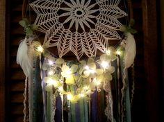La main enchantée fleurs napperon LED capteur de par DreamRaes