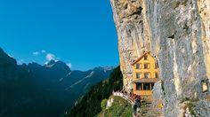 Wasserauen, Switzerland. http://thenomadlab.com/post/13550765945/aschercliff