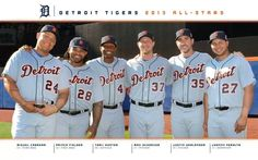 Detroit Tigers 2013 All-Stars. Miggy, Prince and Torii, my fav Tigers!