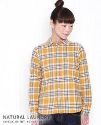 NATURAL LAUNDRY [ナチュラルランドリー] チェック レギュラーシャツ 2色