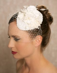 Lace Bridal Hat Bridal Hair accessory Teardrop by GildedShadows