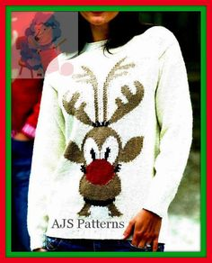 PDF Knitting pattern for a Unisex Reindeer by TheKnittingSheep