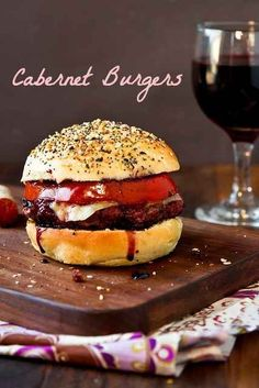 Cabernet Burgers-Recipes for leftover wine