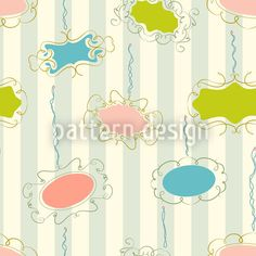 Frames On Stripes Seamless Pattern Striped Background, Lets Celebrate, Vector Pattern, Pastel Colors, Surface Design, Frames, Happy Birthday, Stripes, Patterns