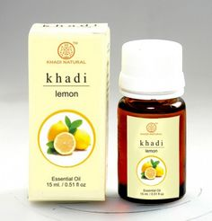 Khadi Herbal Lemon essential oil The therapeutic properties of lemon oil are anti-anemic, antimicrobial, anti-rheumatic, anti-sclerotic, antiseptic, bactericidal, carminative, cicatrisant, depurative, diaphragmatic, diuretic, febrifuge, homeostatic, hypertensive, insecticidal, rubefacient, tonic and vermifuge. #ReadyForShop #KhadiProducts
