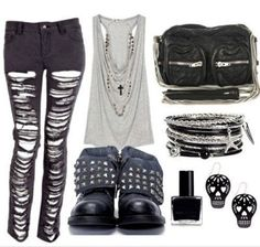 I just love all the studs, skulls and 90's grunge that is in style right now!
