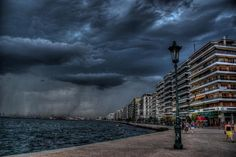 Amazing storm clouds! Thessaloniki, Greece