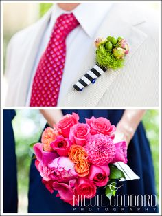 Hot pink && navy blue may be the colors for our wedding :D