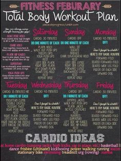 Workout timetable