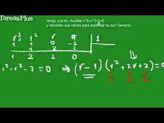 solución de la ecuacíon auxiliar de una ecuación diferencial de grado tres