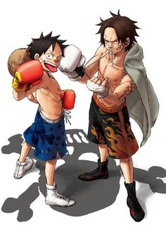 Ace and Luffy from One Piece